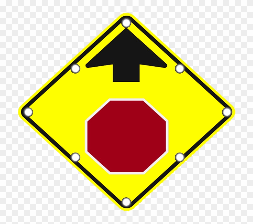 W3-1 Solar Stop Ahead Sign - Stop Sign Ahead Sign #662161