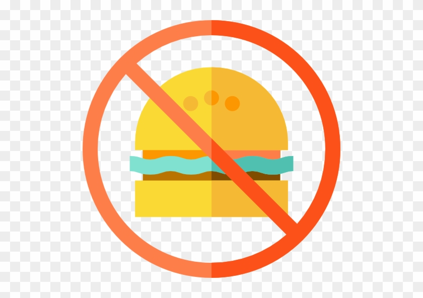 No Fast Food Free Icon - No Food Flat Icon #662355