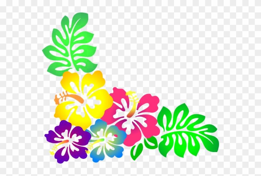 Hawaiian Flowers Clip Art - Luau Flowers Clip Art #663568