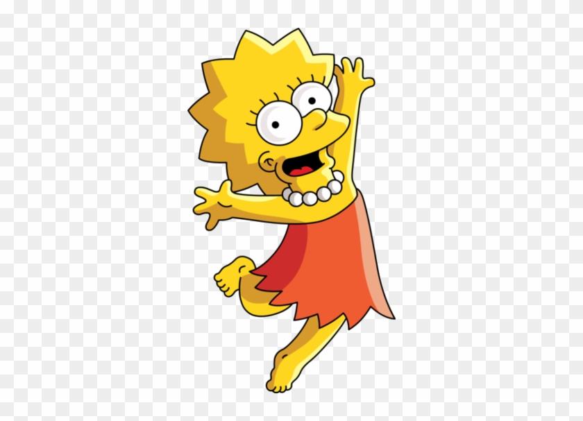 Siempre Va Con Su Mejor Amigo Milhouse Van Houten - Lisa Simpson Png #663716