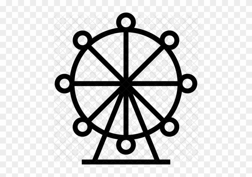 Ferris Wheel Icon - Boat Steering Wheel Png #663780