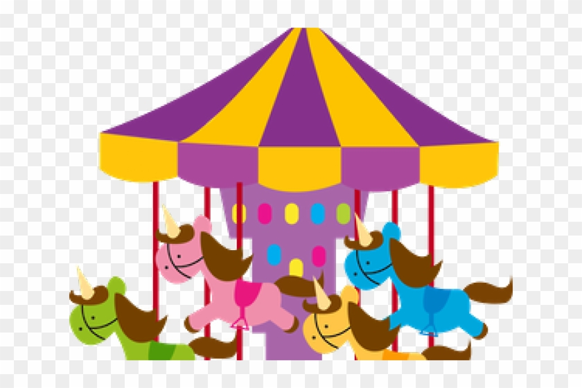 Amusement Park Clipart Baby Carousel - Parque De Diversões Minus #663973