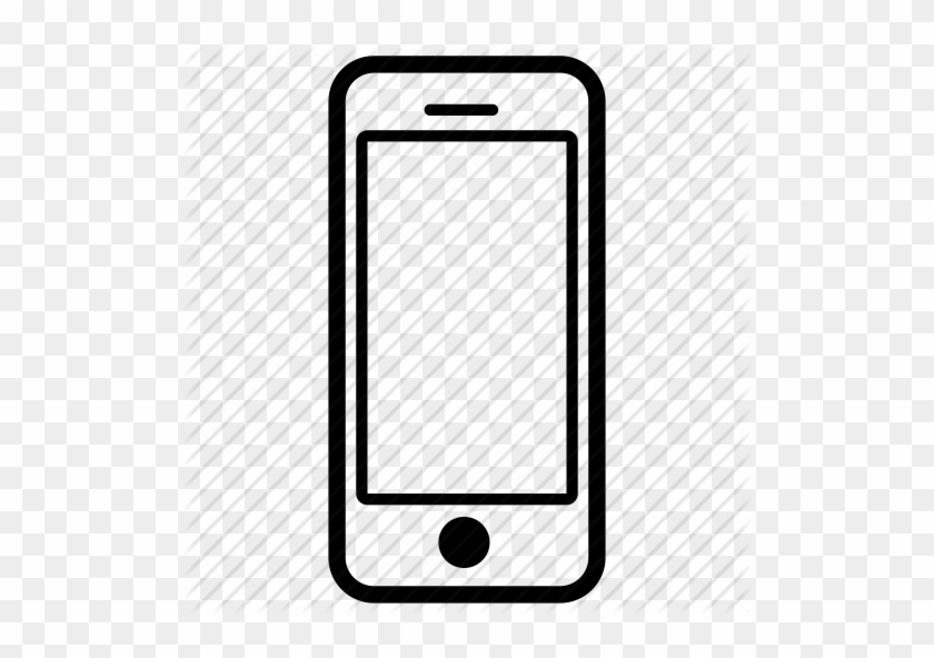 Iphone Black And White - Cell Phone Icon Png #664031