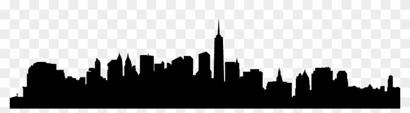City Skyline Silhouette 02 Vector Eps Free Download New York Skyline Wall Free Transparent Png Clipart Images Download