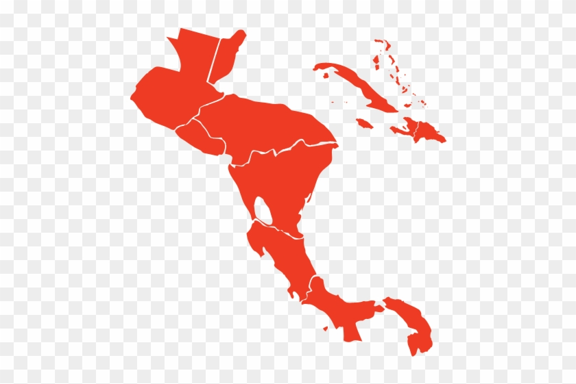 Centurion Club - Blank Map Of Central America - Free Transparent PNG ...