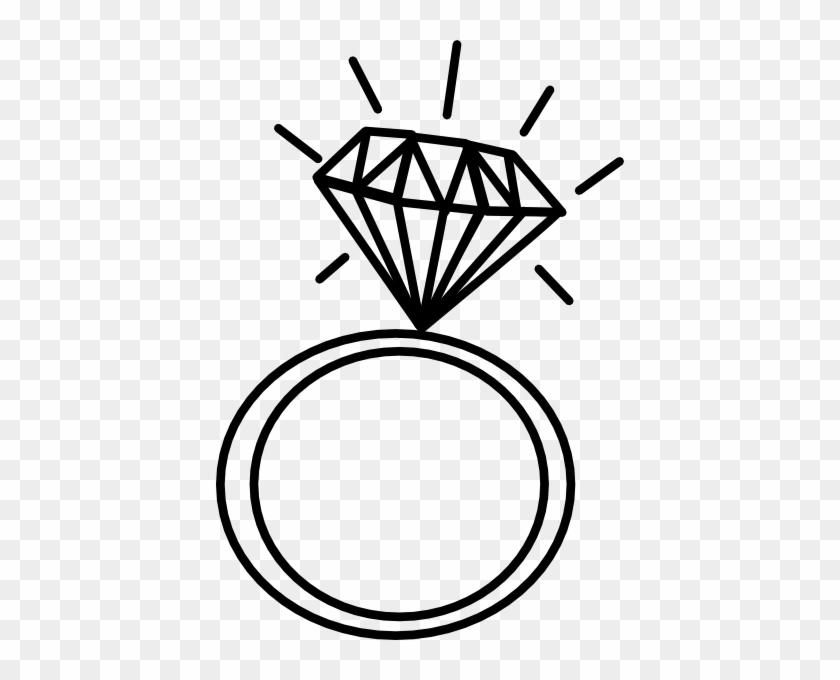 Diamond Ring Clip Art At Clker Com Vector Clip Art - Draw A Wedding Ring #664982