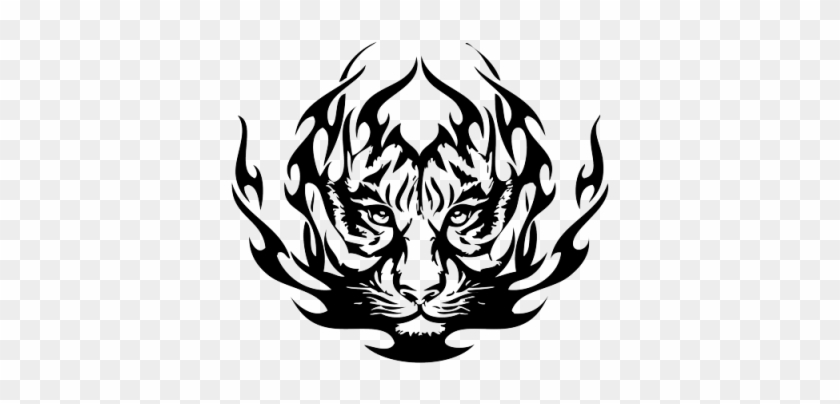 Tigre, Astratto, Animale, Tiger, Sumatra, Images Png - Tribal Tiger Face Tattoos #665029