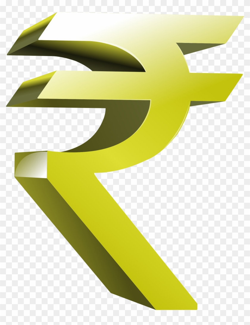 Indian Money Clipart - Indian Rupee Symbol Png #665226