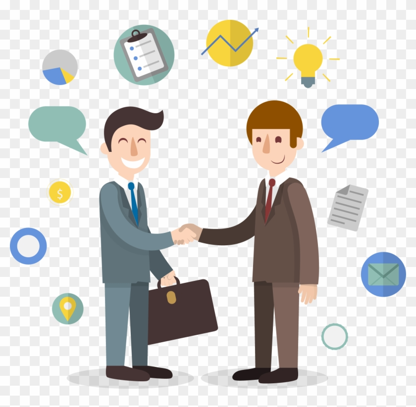 Business Meeting Clipart Png Image 09 - Business People Shaking Hands Cartoon #665996