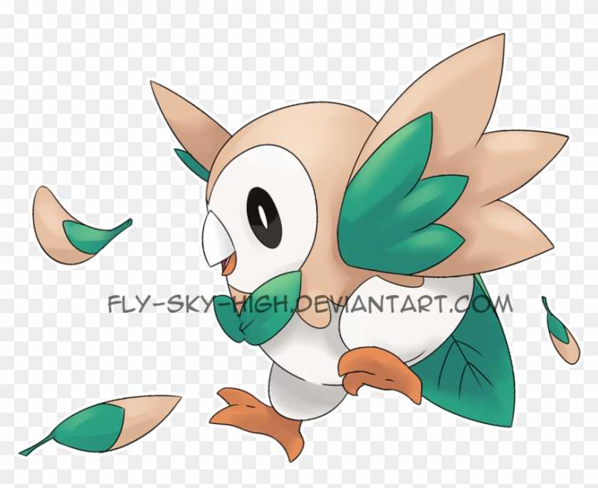Rowlet Pokemon Pictures To Pin On Pinterest Pokemon Rowlet Flying