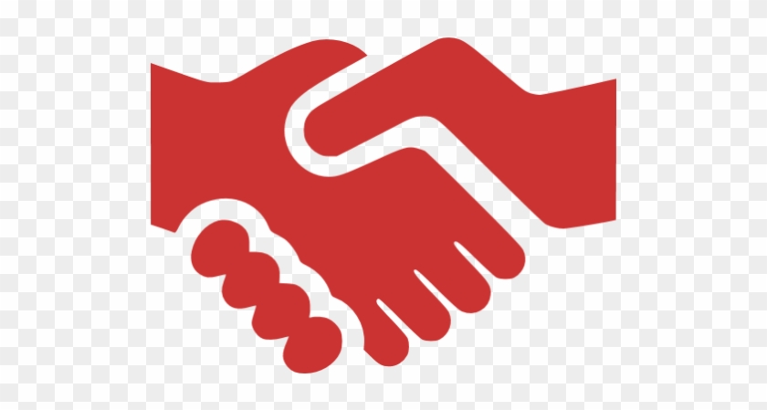 Shake Hands Icon Red #666641