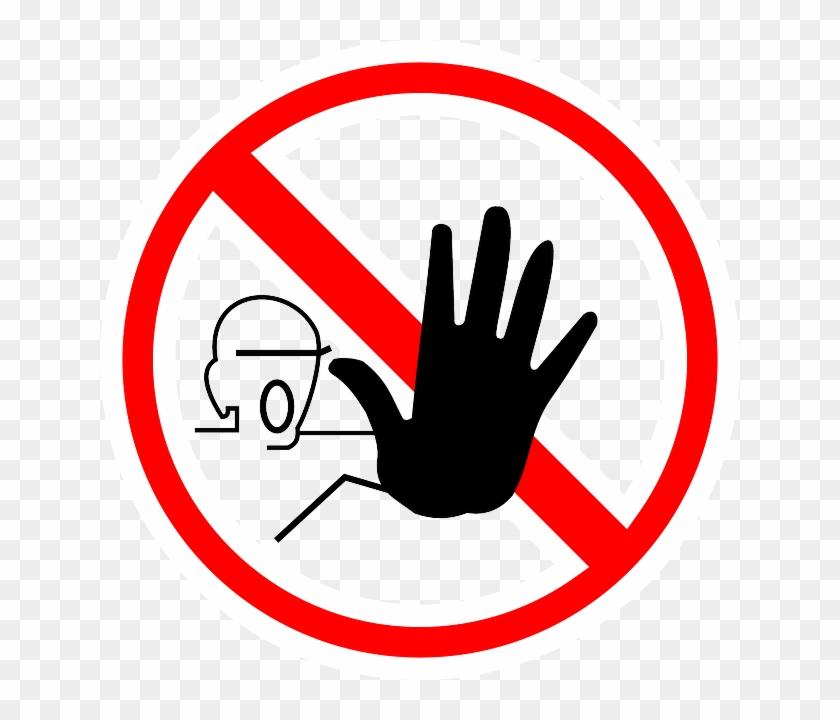 Stop, Hand, Yield, Forbidden, Halt - Stop Clipart #666797