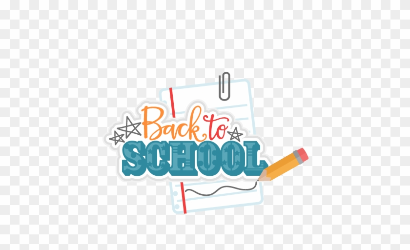 Back To School Title Svg Scrapbook Cut File Cute Clipart - Cute Back To School Png #667158