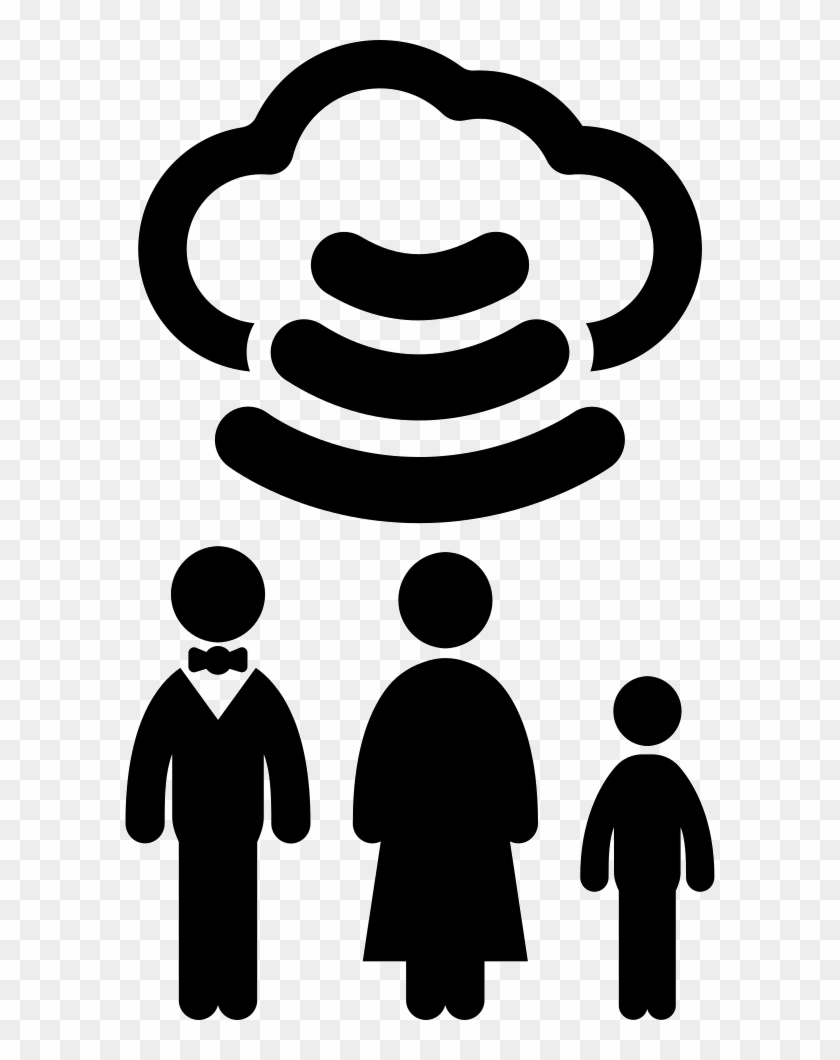 Family Connected With Wifi To Internet Cloud Comments - Internet