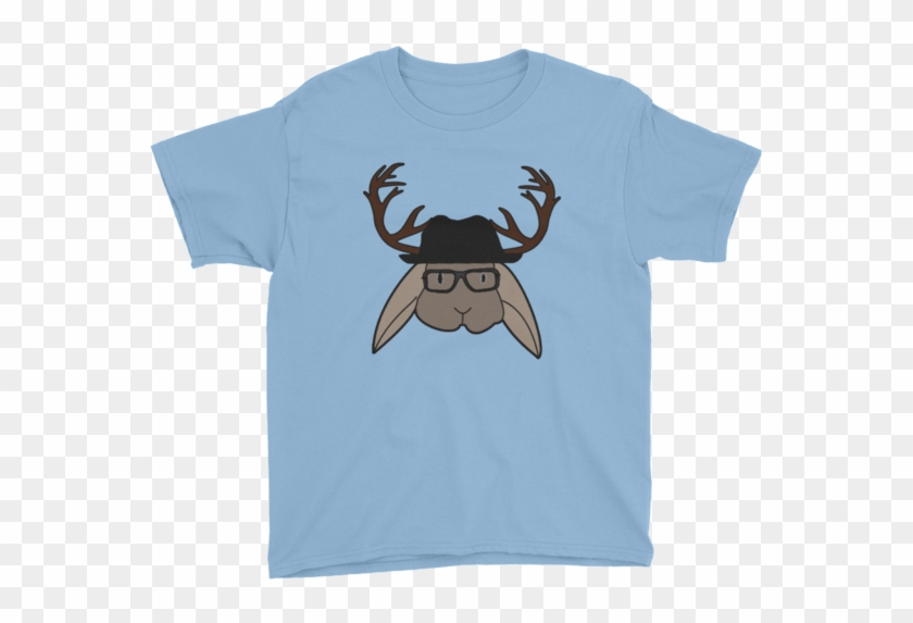 Angelo The Jackalope Youth Short Sleeve T-shirt - Sunshineandspoons Keep Staring. Maybe It'll Grow Back. #667680