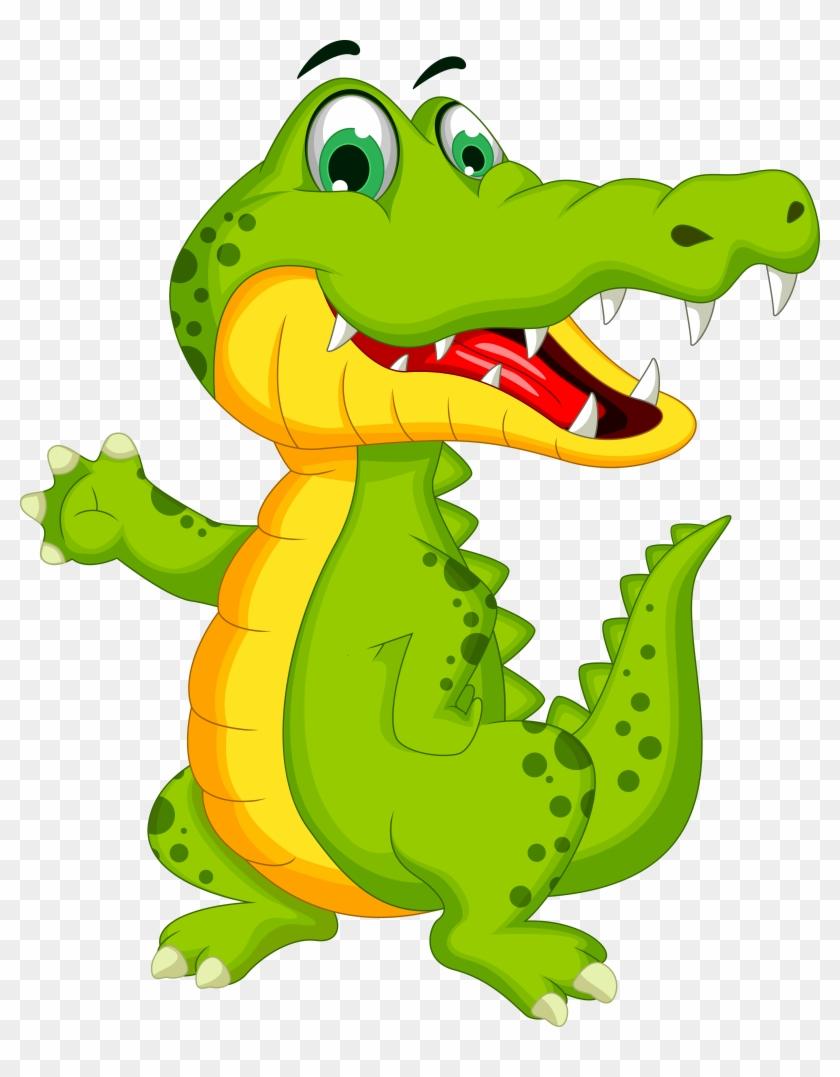 Crocodile Alligator Cartoon Illustration - Alligator Cartoon #668058