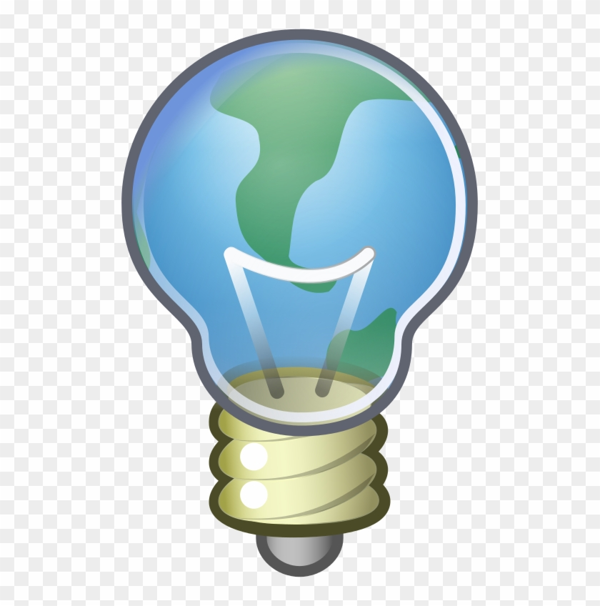 File - Global Thinking - Svg - Light Bulb Icon #668281
