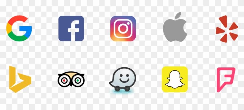 Google, Facebook, Instagram, Apple, Yelp, Bing, Tripadvisor, - Small Facebook And Instagram Logo #669561