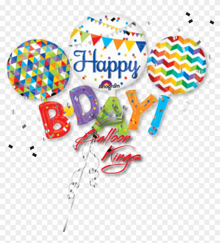 Multi Balloon Happy Birthday - Party City Birthday Balloons #669873