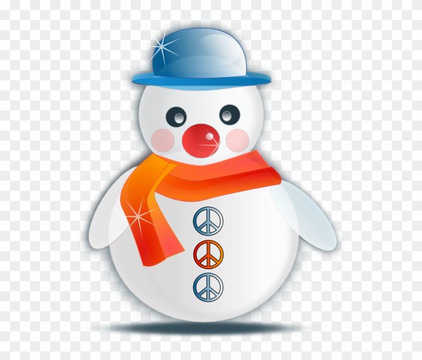 Snowman Glossy Christmas Xmas Peace Symbol Sign Coloring - Christmas Symbols Snowman #670140