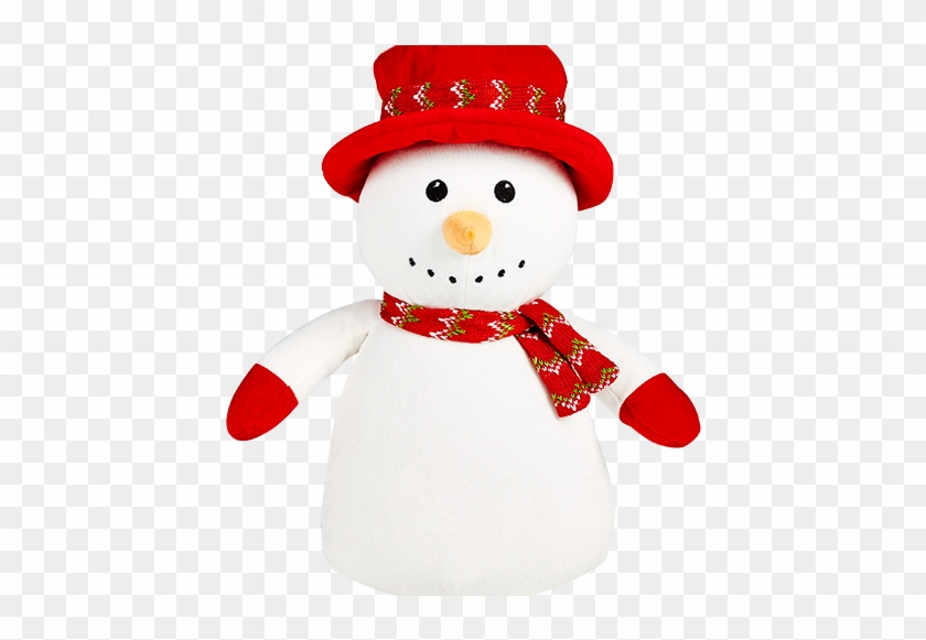 Snowman Cubbie Embroidered With Your Special Message - Baby's First Christmas, Snowman In A Top Hat #670181