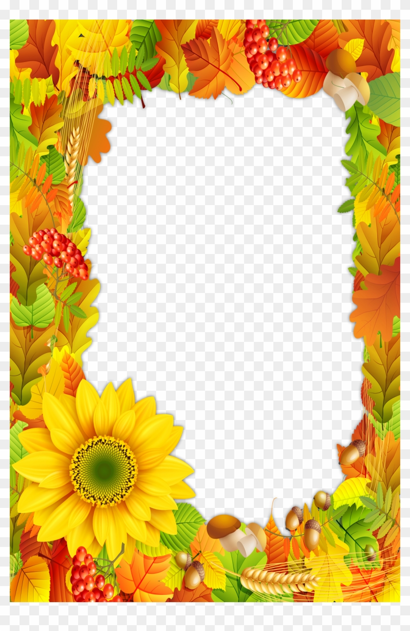 Fall Colors Png Photo Frame - Fall Frames And Borders #670230