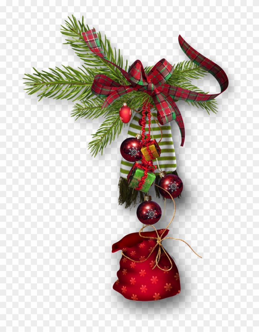 Branche Sapin Boules Rouges - Christmas Ornament - Free Transparent ...