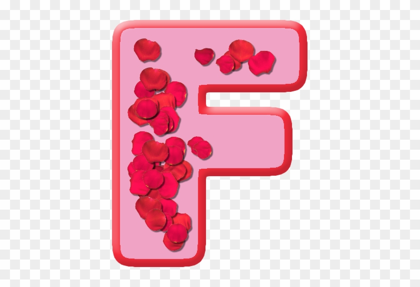Etc Home Alphabets Themed Letters Rose Petals Letter - F Letter Whatsapp Status #671274