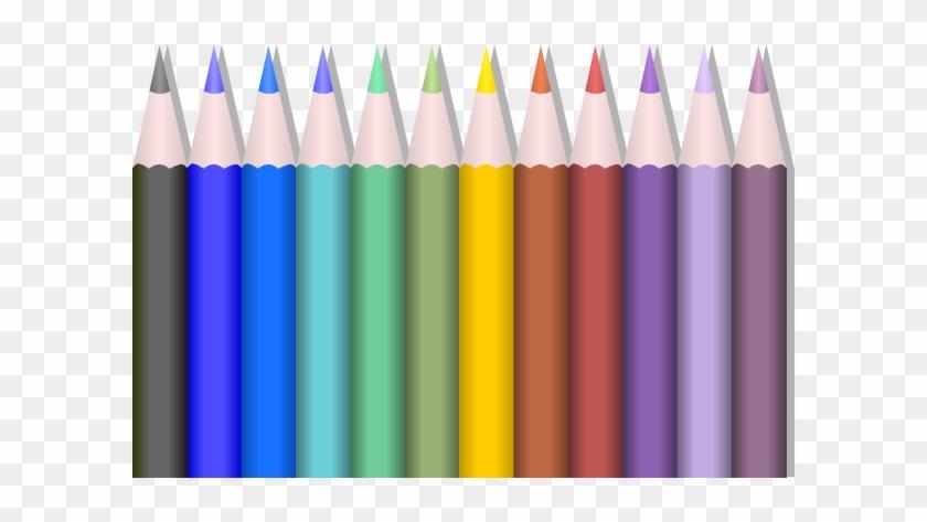 Colored Pencils Clip Art - Color Pencil Clipart Png #671445