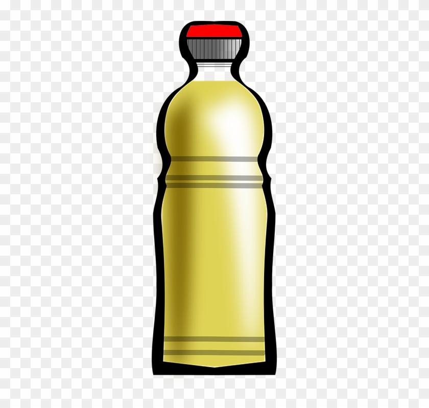 Sun Flower Oil Bottle Clipart - Cooking Oil Clipart #671674