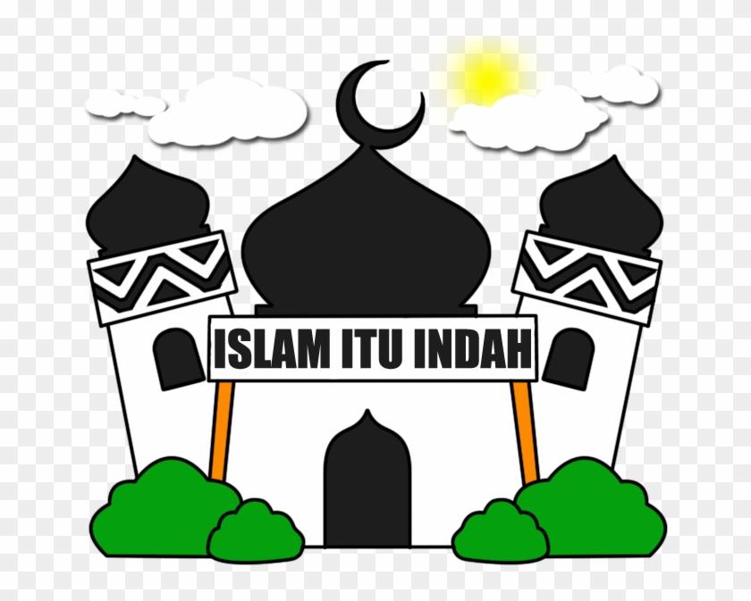 Gambar Mewarnai Masjid Gambar Masjid Hitam Putih Free
