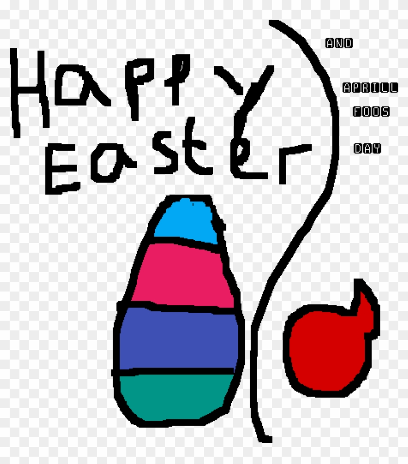 Happy Easter And Aprill Fools Day - Drawing #672412