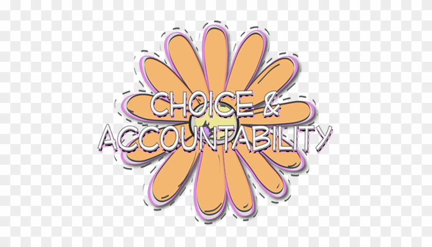 And Accountability Flower Orange Lds Yw Young Women - Young Women Values Clipart #672679