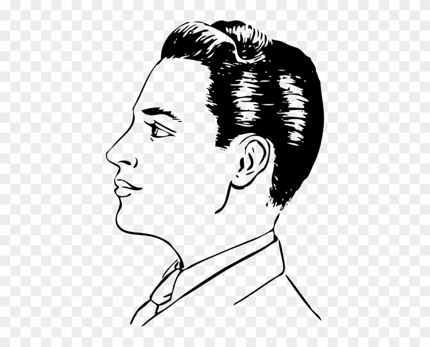 Men Haircut Side View Clip Art At Clker Man Side Face Drawing Free Transparent Png Clipart Images Download