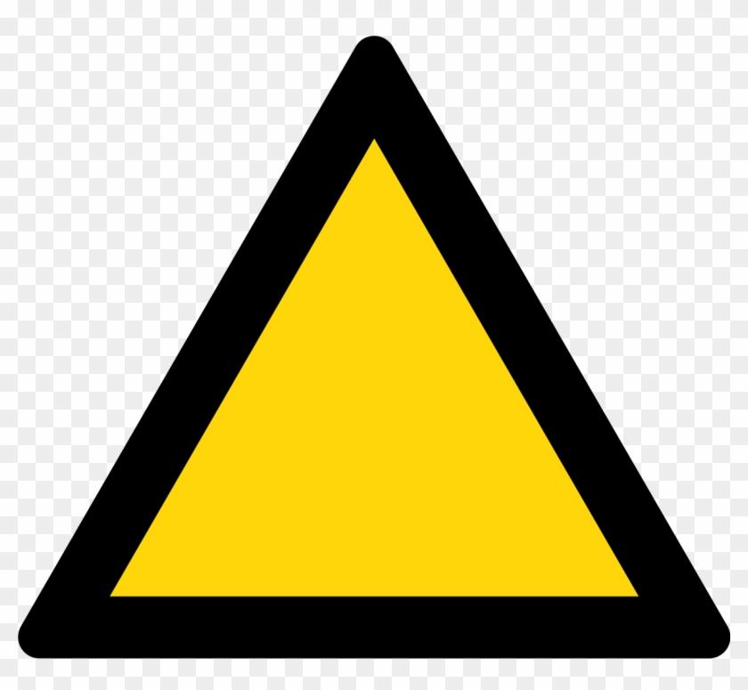 Triangle Warning Sign - Yellow And Black Warning Sign #673159