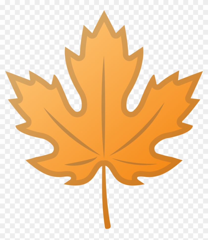 Autumn Leaves Clipart Emoji - Maple Leaf Silhouette Png #673203