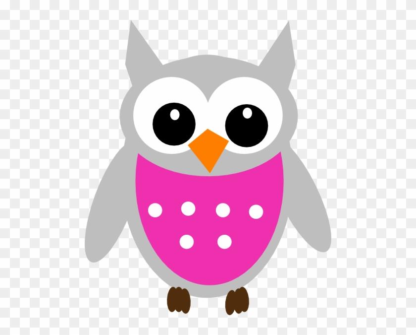 Pink Owl Clip Art At Clker Com Vector Clip Art Online - Baby Owl Clip Art #674351