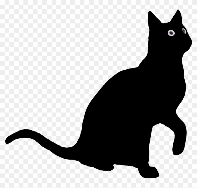 Anime Black Cats With Red Eyes Download - Cat Silhouette Looking Up #674795