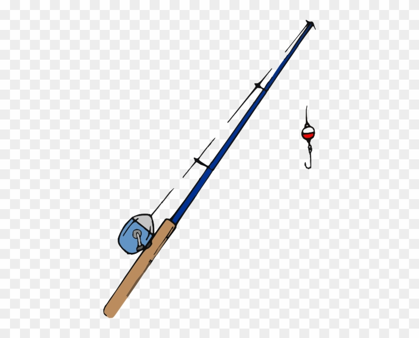 Fishing Pole2 Clip Art At Clker - Fishing Pole Clipart #675781