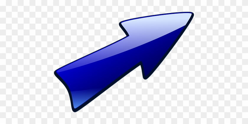 Arrow Arrow Up Right Blue Bullet Right Up - Arrow Pointing Up Right #675878