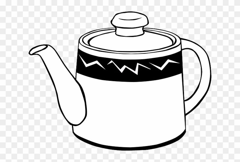 Food, Hot, Teapot, Pot, Drink, Tea, Kettle - Kettle Black And White #675899