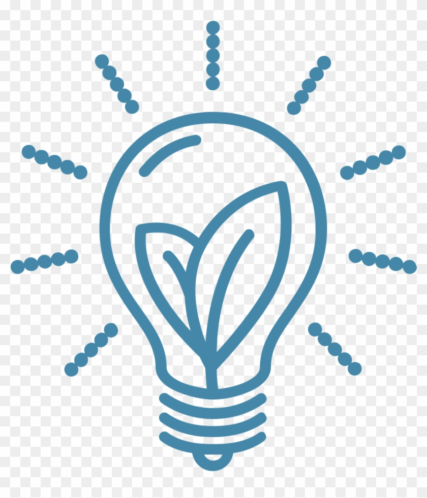 Open - Blue Light Bulb Icon #676074