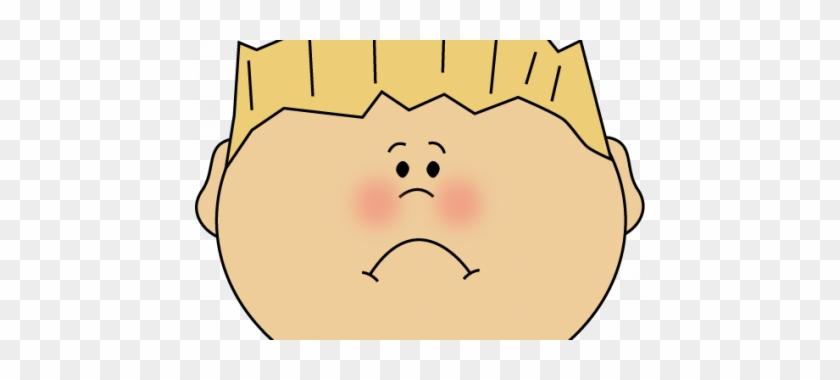 Little Boy Clipart Sad Face - Cartoon Photo Of Happy #676388