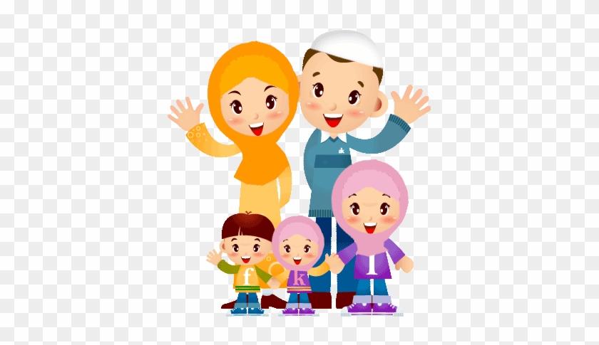 Ana Muslim Image Wallpaper Family Muslim Cartoon Png Free