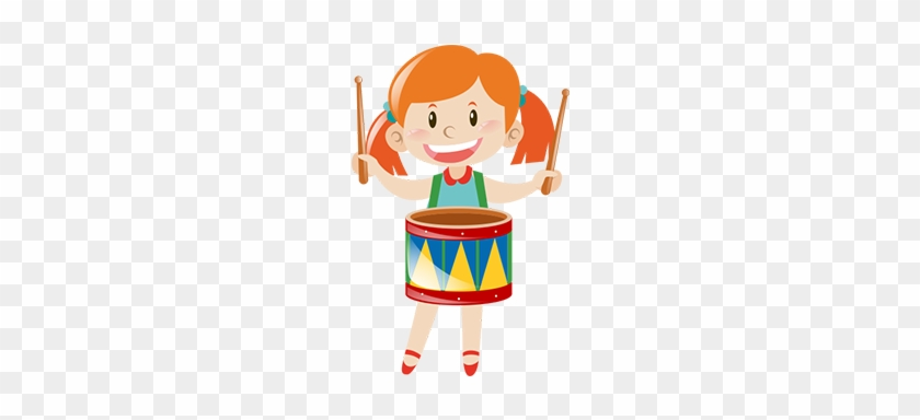 Krazy Kids Karnival, Exhibition, Carnival, Mumbai, - Girl Playing Drums Clipart #678279