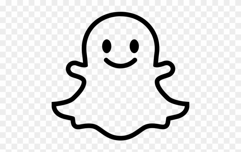 Social Snapchat Outline, Snapchat, Snapchat Button