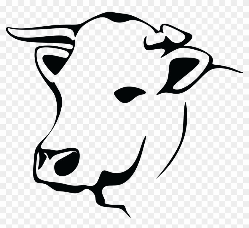 Free Clipart Of A Black And White Cow - Cow Image Black And White #120695