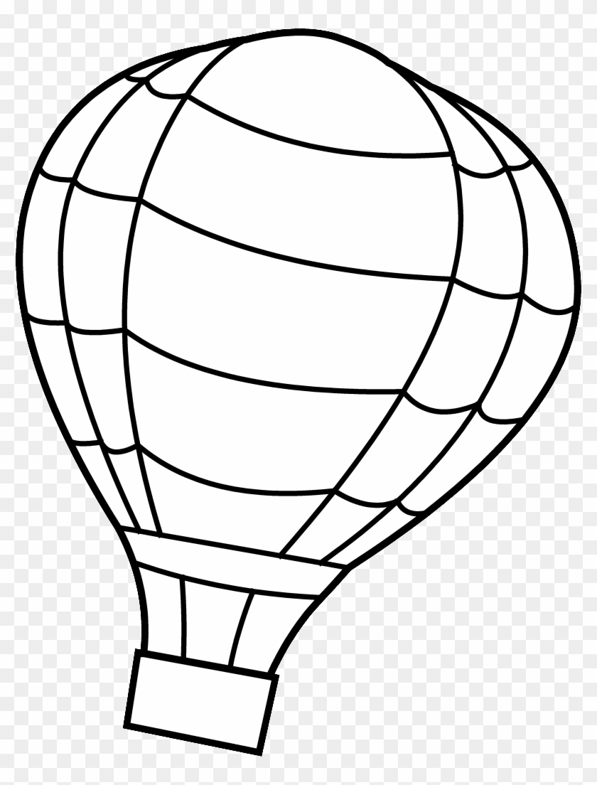 Add Favorite Hot Air Balloon Coloring Page Free Transparent