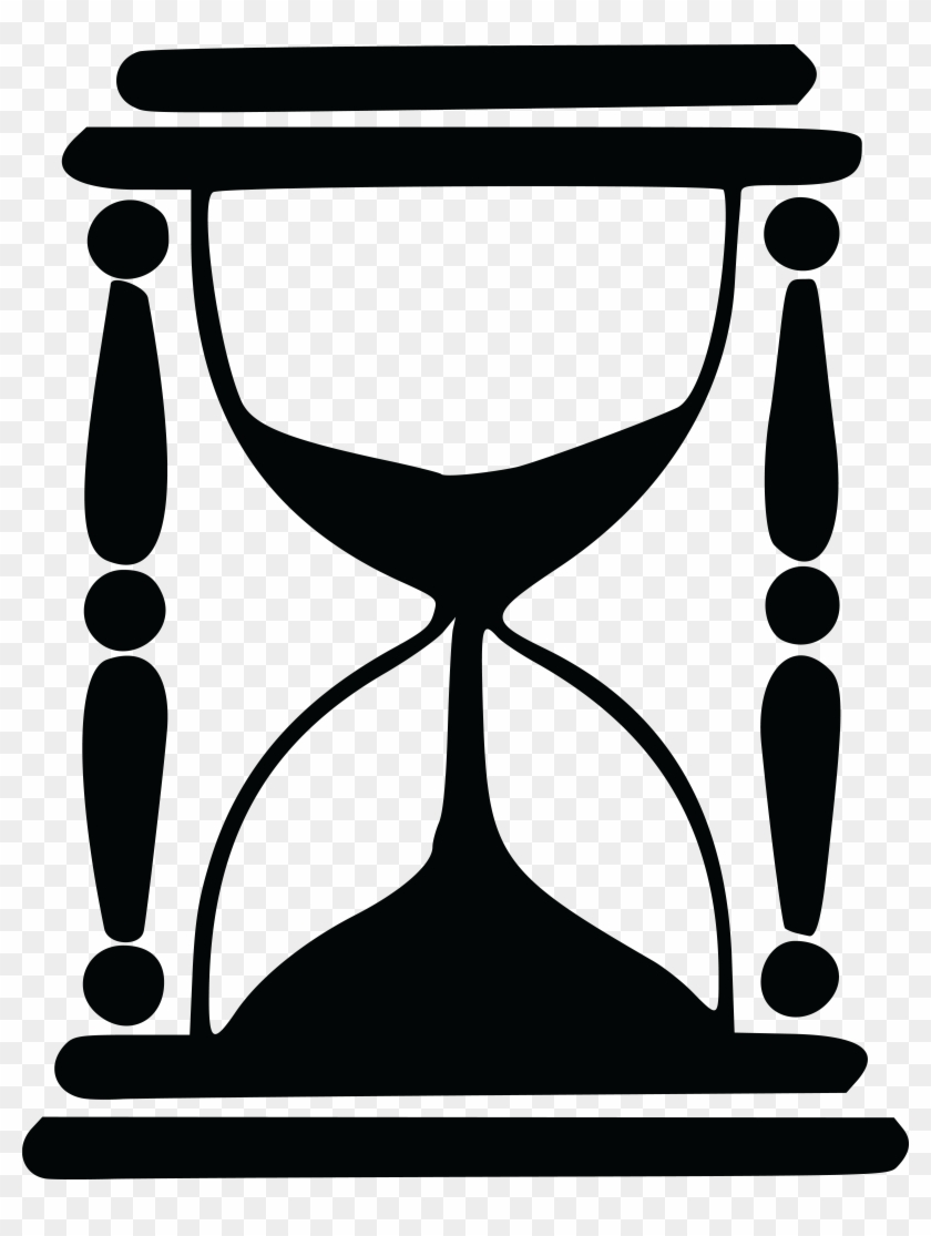 Free Clipart Of An Hourglass - Hourglass Silhouette #120797