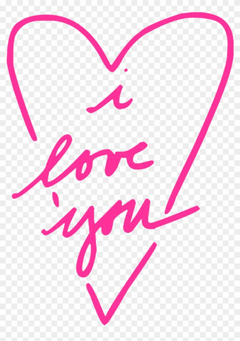 I Love You Clipart - Liebe Sie Rotes Herz Karte #120831